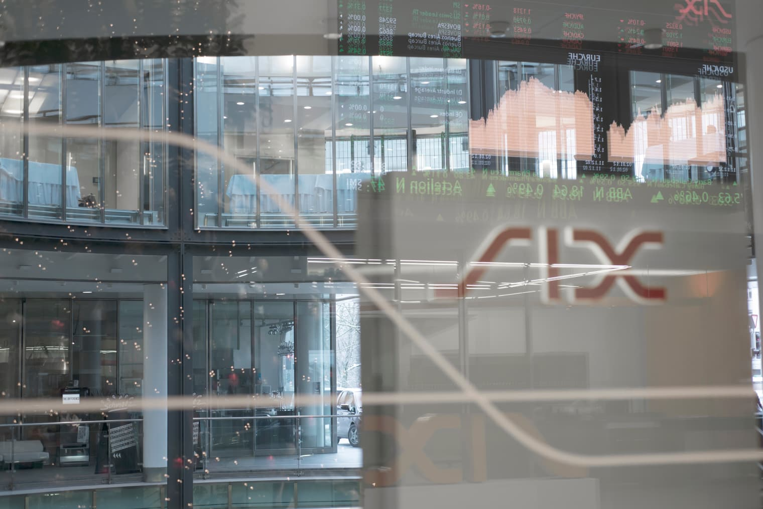 View into one of the SIX Swiss Exchange buildings